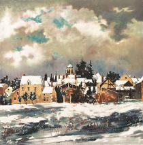 Neige à St Bris le Vineux