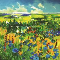 La rivière aux fleurs bleues