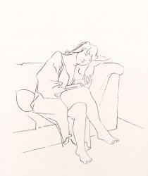 Jeune femme lisant