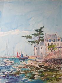 Ciel bleu à Ile Tudy Bretagne