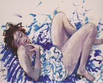 Elisa à la robe bleue
