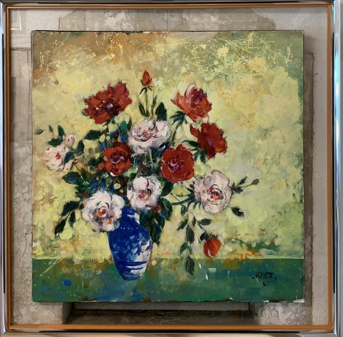 La vase bleu