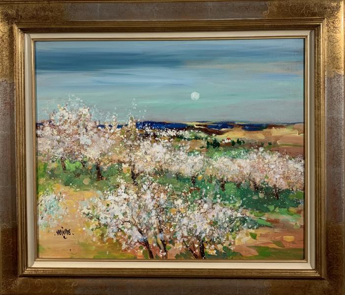 Cerisiers et petite maison