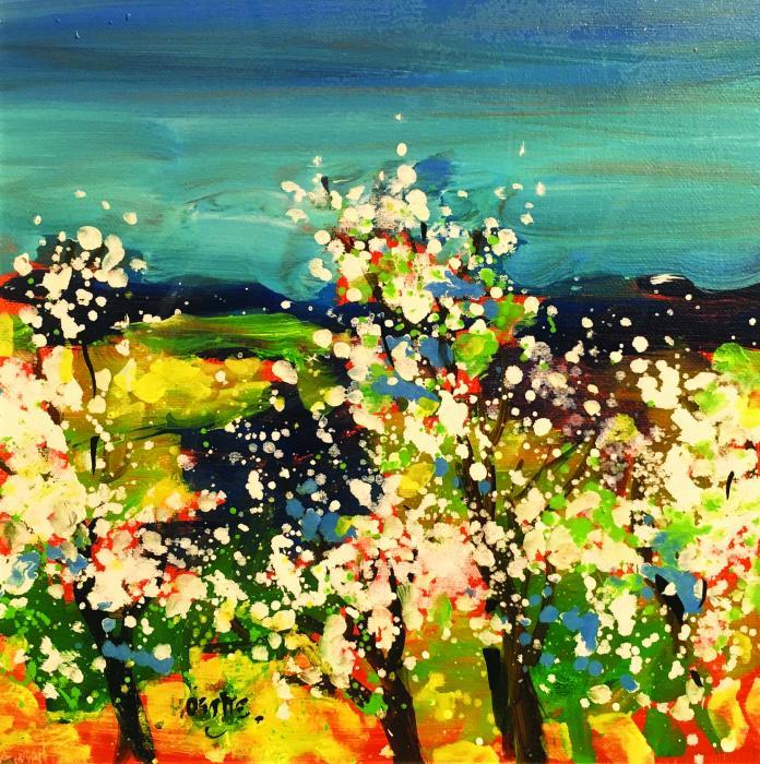Ciel bleu de printemps