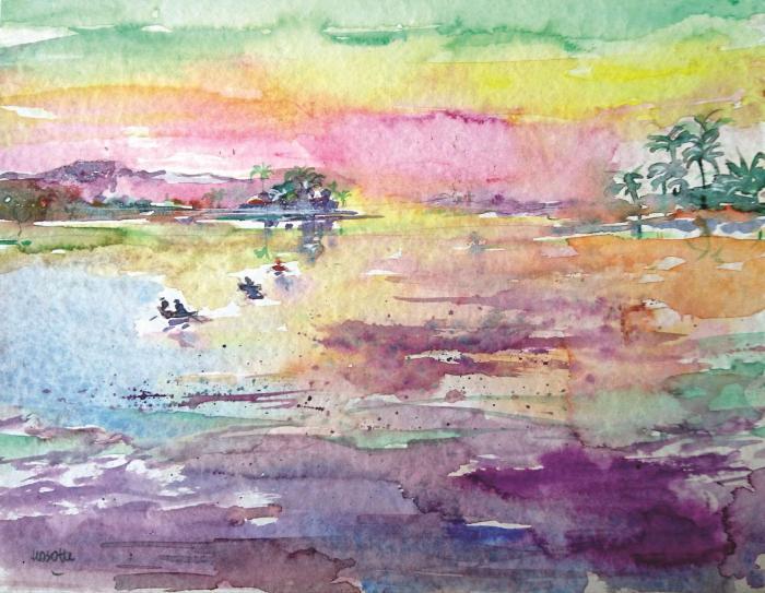 La mer égée (Crète)