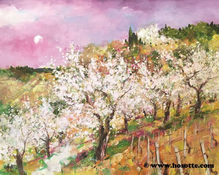 Le petit chemin dans les cerisiers
